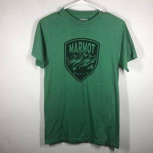 Marmot Mountain green tee size small